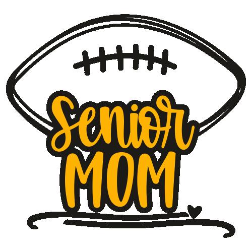 Senior Mom Football Svg