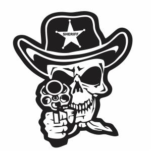 Cowboy Skull Svg