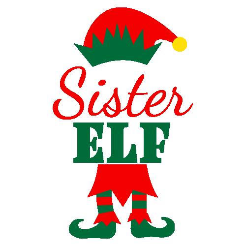 Sister Elf Svg