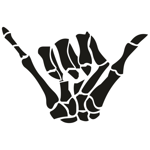 Skeleton Shaka Sign Svg