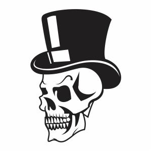 Skull head with cap vector file