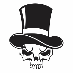 skeleton head with cap vector file