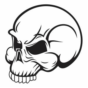 Skull face vector file