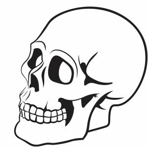 happy Skull face vector file
