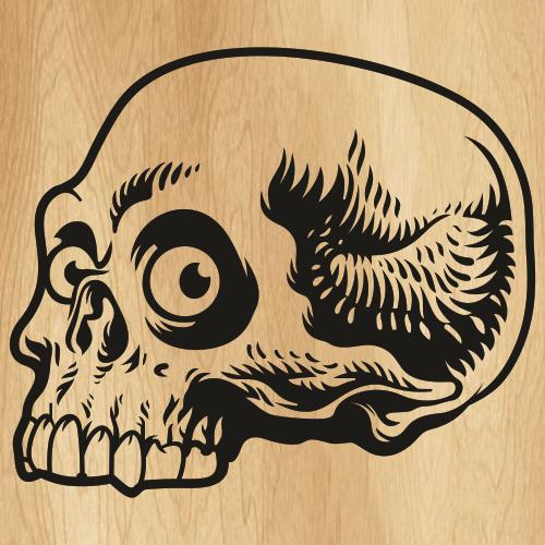 Skull Danger Svg