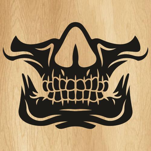 Skull Mouth Face Mask SVG