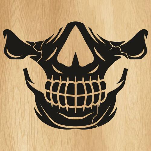 Skull Mouth Mask SVG