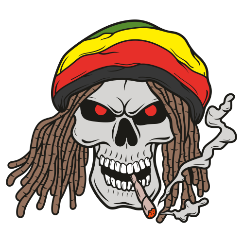 Skull Smoking Clipart