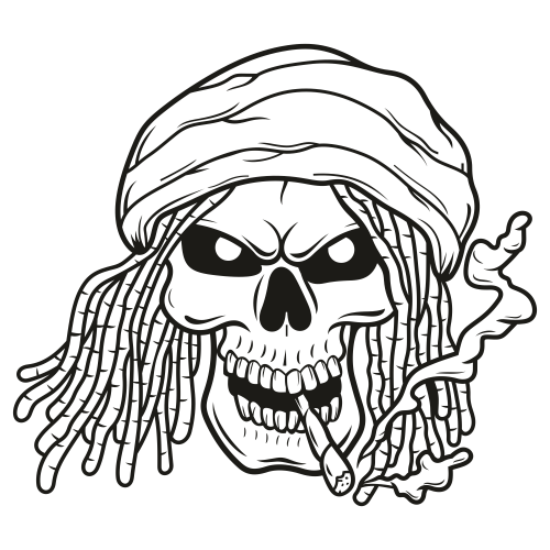 Skeleton Smoking Svg