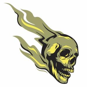 skull ghost rider vector