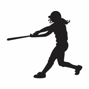 Softball Player Vector