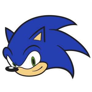 Sonic Head Vector Sonic Head Cartoon Vector Image Svg Psd Png