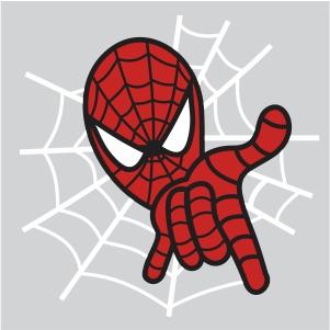 Chibi Spiderman svg file