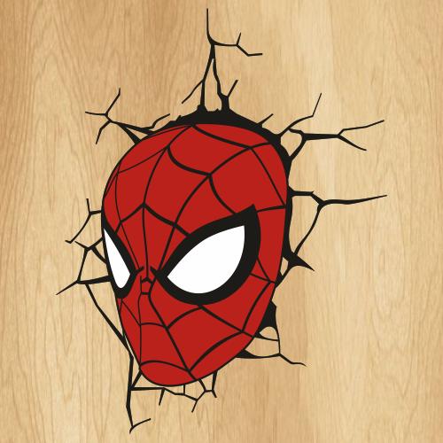 Spiderman Face Crack Svg