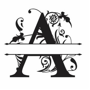 Split Monogram A Letter Svg