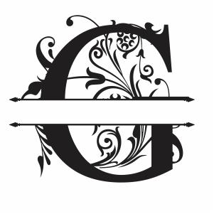 Split Monogram G Letter Svg