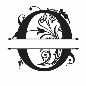 Split Monogram O Letter Svg