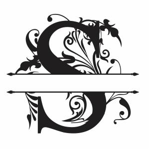Split Monogram S Letter Svg