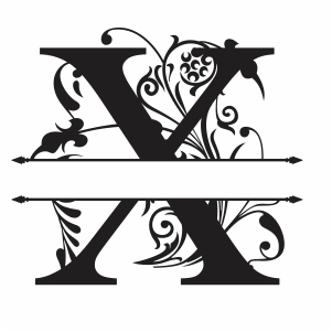 Split Monogram X Letter Svg