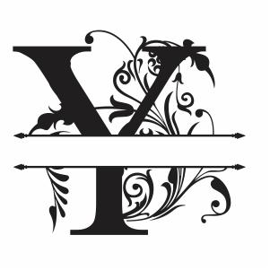 Split Monogram Y Letter Svg