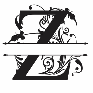 Split Monogram Z Letter Svg