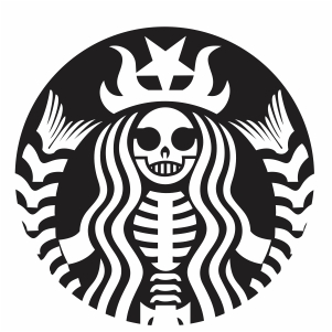 Starbucks skull Svg