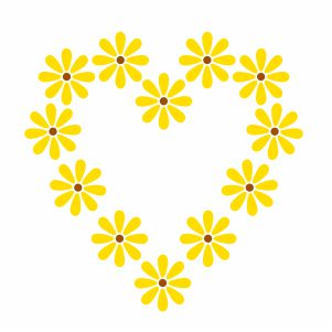 Sunflower Heart Svg