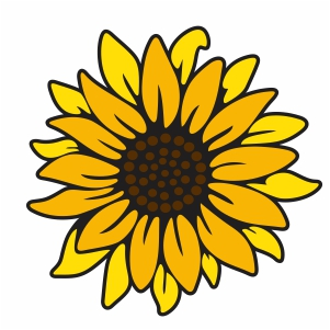Layerd Sunflower Svg