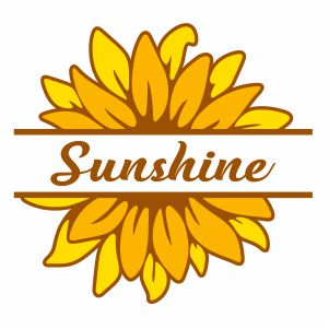 Sunflower Sunshine Monogram Svg