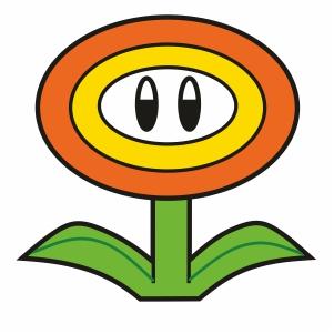 Super Mario Flower Svg