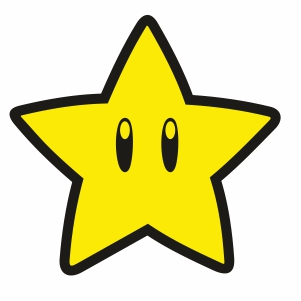 Super Mario Star Svg