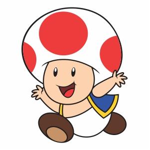 Super Mario Toad Svg
