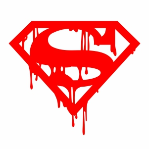 Bloody Superman Logo Silhouette