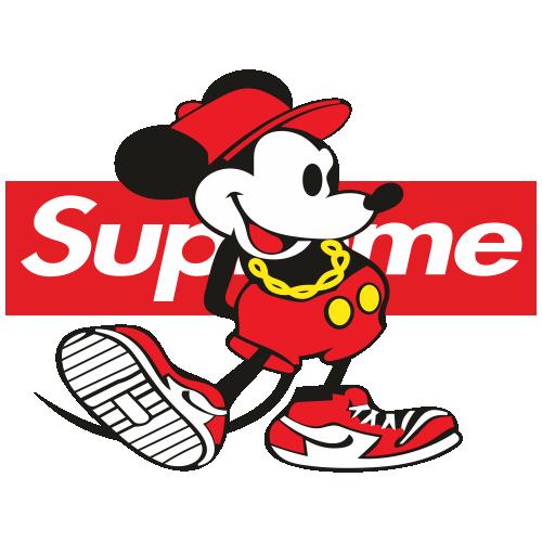 Supreme Mickey Svg
