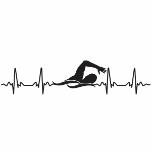 Swimming Heartbeat Svg