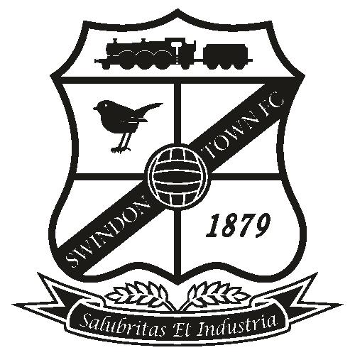 Swindon Town FC Black Svg