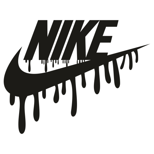 Dripping Nike Logo Svg