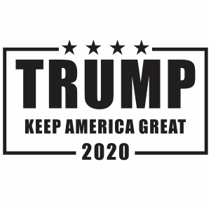trump keep america great logo svg file