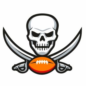 Tampa Bay Buccaneers Skull Logo Clipart