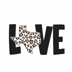Texas Love svg file