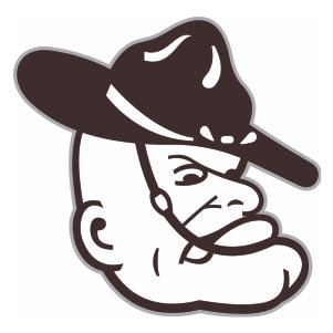 Texas A and M University Mascot Logo Cut