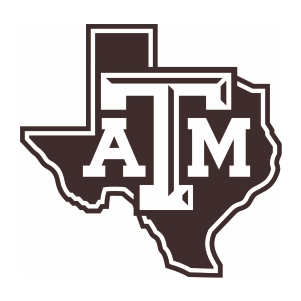 Texas A And M University Map Logo Cut