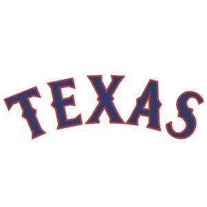 Texas Rangers jersey Logo Cut