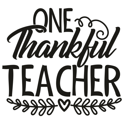 One Thankful Teacher Svg