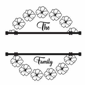 Family Monogram Frame Vector