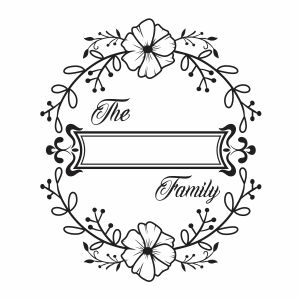 Family Monogram Frame Png