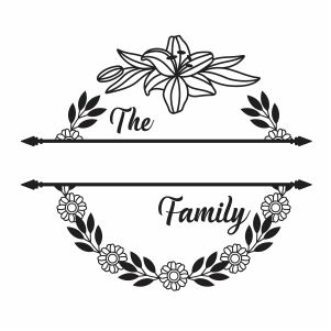 The Family Monogram Vector