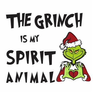 The Grinch is My Spirit Animal Vector