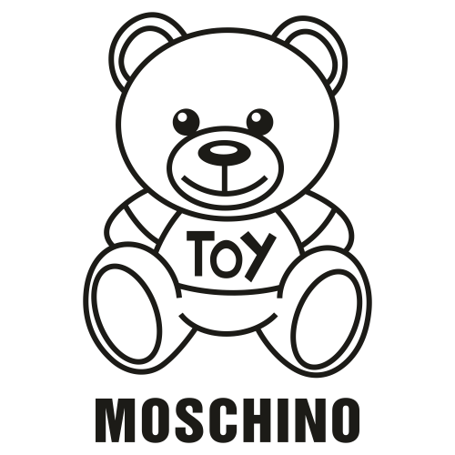 Moschino Bear Logo Silhouette
