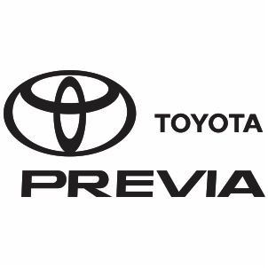 Toyota Previa Logo Svg